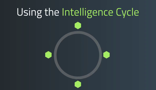 using the intelligence cycle screenshot